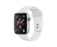 Apple Watch 4 44/Silver Aluminium/White Sport GPS  (MU6A2WB/A)