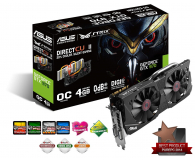 ASUS GeForce GTX 970 4096MB 256bit DirectCu II Strix OC (STRIX-GTX970-DC2OC-4GD5)