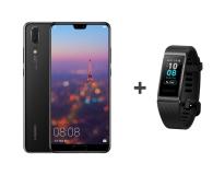 Huawei P20 Dual SIM 64GB Czarny + Band 3 Pro czarny (Emily - Black + Terra-B19 BLACK)