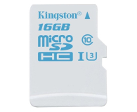 Kingston 16GB microSDHC UHS-I U3 zapis 45MB/s odczyt 90MB/s (SDCAC/16GB)