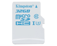 Kingston 32GB microSDHC UHS-I U3 zapis 45MB/s odczyt 90MB/s (SDCAC/32GB)