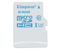 Kingston 64GB microSDXC UHS-I U3 zapis 45MB/s odczyt 90MB/s (SDCAC/64GB)