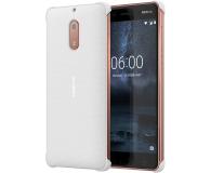 Nokia Carbon Fibre Design Case do Nokia 6 Pearl White (CC-802 Pearl White)