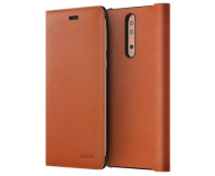 Nokia Leather Flip Cover do Nokia 8 Tan Brown (CP-801 Tan Brown)