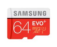 Samsung 64GB microSDXC Evo+ zapis 20MB/s odczyt 80MB/s  (MB-MC64DA/EU)