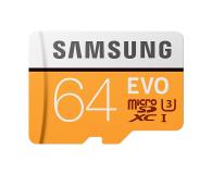 Samsung 64GB microSDXC Evo zapis 60MB/s odczyt 100MB/s  (MB-MP64GA/EU)