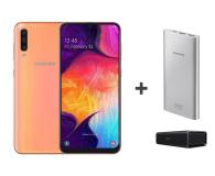 Samsung Galaxy A50 Coral +Creative Roar+PowerBank10000mAh  (SM-A505FZOSXEO+ZESTAW)
