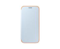 Samsung Neon Flip Cover do Galaxy A3 2017 niebieski (EF-FA320PLEGWW)