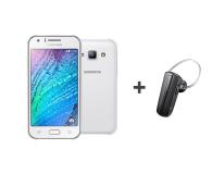 Smartfon/Telefon/Fablet Samsung Galaxy J1 Dual SIM J100H biały + słuchawka BT SM-J100HZWDXEO + BHM1200EBEGXEO