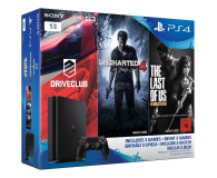 Sony PlayStation 4 1TB SLIM +Uncharted 4 + DC +TLOU