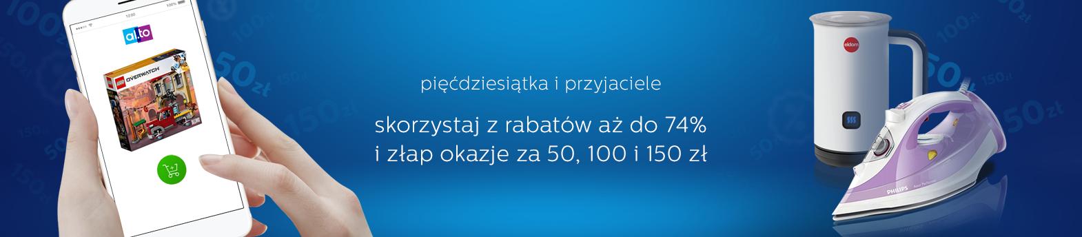 promocja 50, 100 i 150 zł