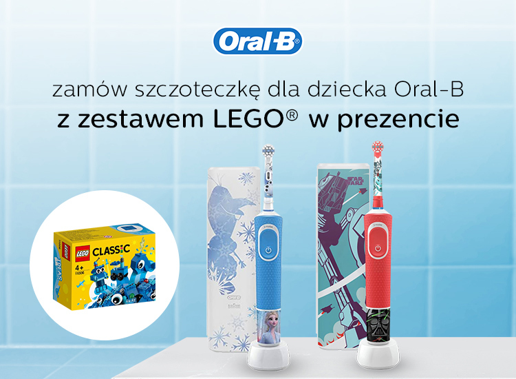 klocki lego gratis do szczoteczki oral-b