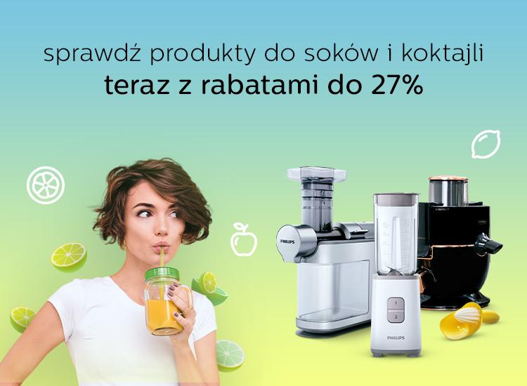 tydzień soków maj 2021 promocja na sokowirówki