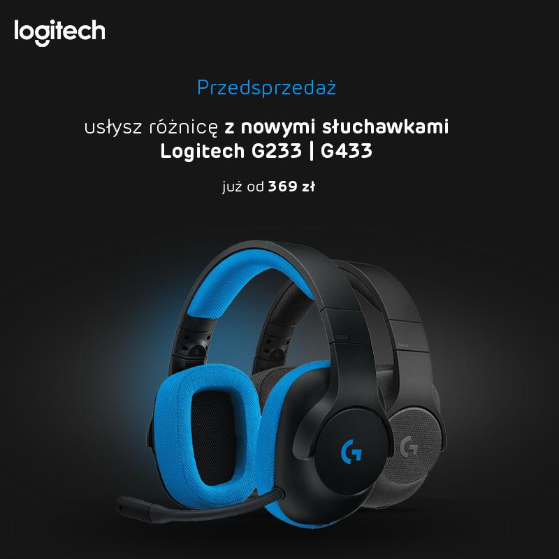 Słuchawki Logitech G433 i Logitech G233 Prodigy w x-kom