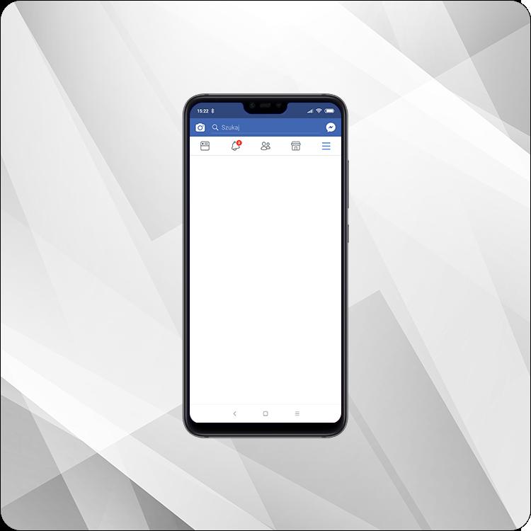 Facebook na Xiaomi Mi 8 Lite