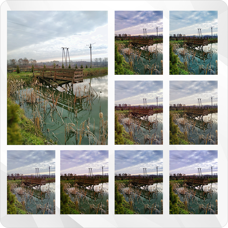 filtry na zdjęciu krajobrazowym Xiaomi Mi 8 Lite