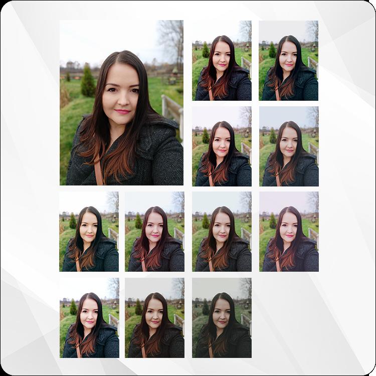 filtry na zdjęciu portretowym Xiaomi Mi 8 Lite