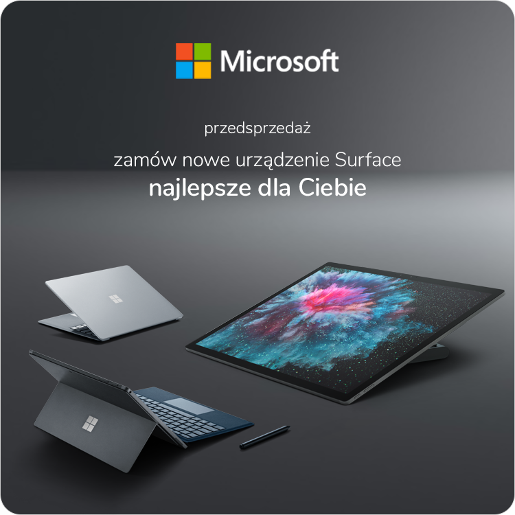Surface Studio 2 sklep, Surface Pro 6 sklep, Surface Laptop 2 sklep