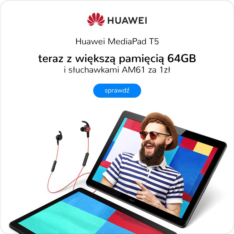 Huawei MediaPad T5 promocja słuchawki