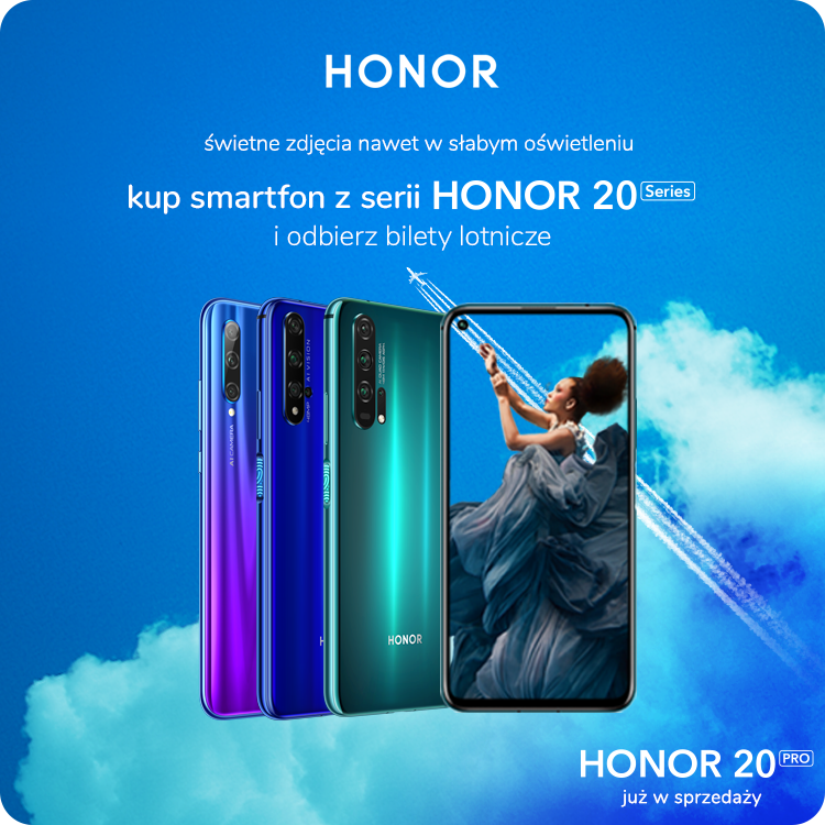 Honor 20 Pro - promocja lotnicza