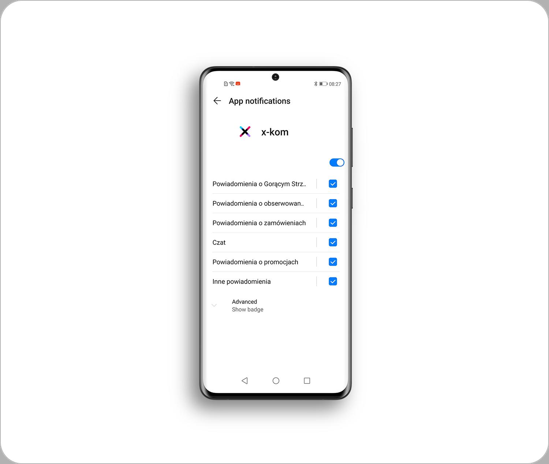 aplikacja x-kom zarządzenie powiadomieniami