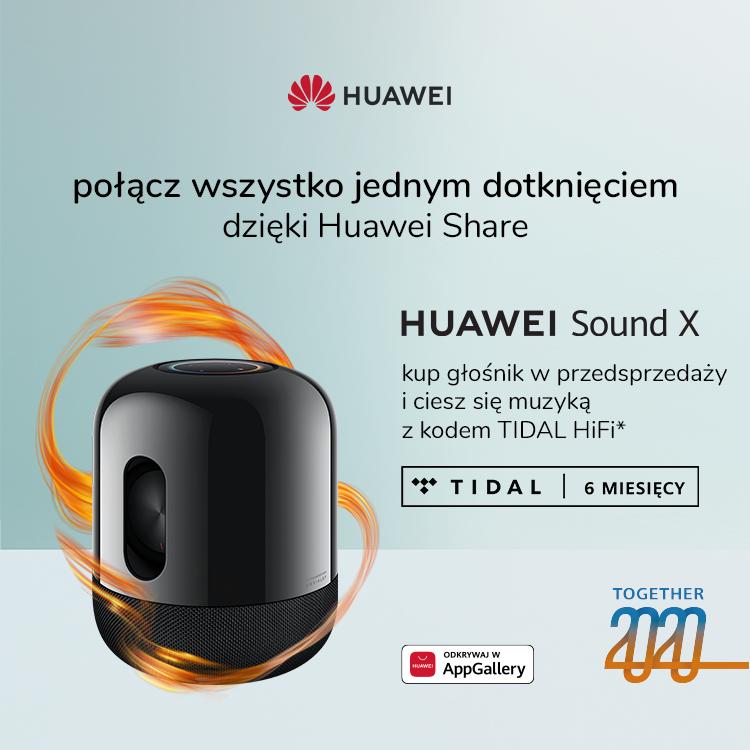 Huawei Sound X premiera promocja TIDAL