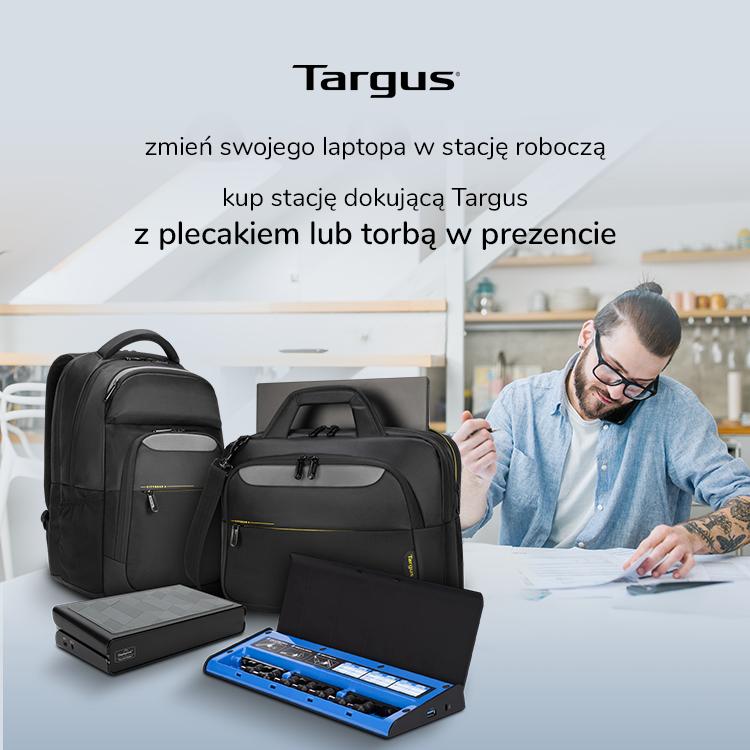 Promocja Targus. Kup stację dokującą i odbierz torbę lub plecak