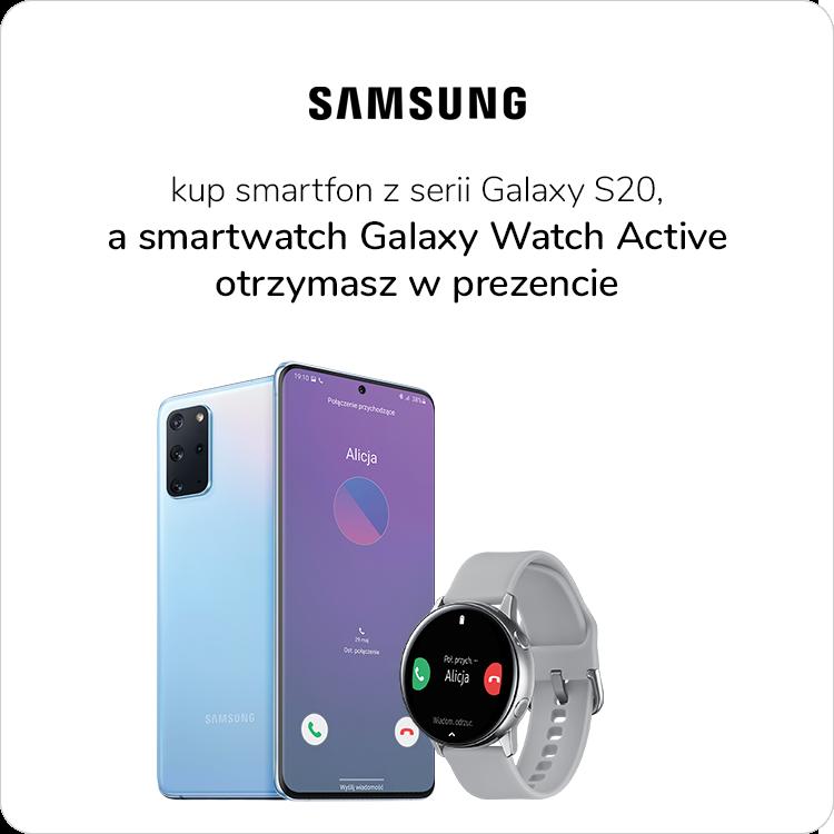 Samsung Galaxy S20 promocja Galaxy Watch Active