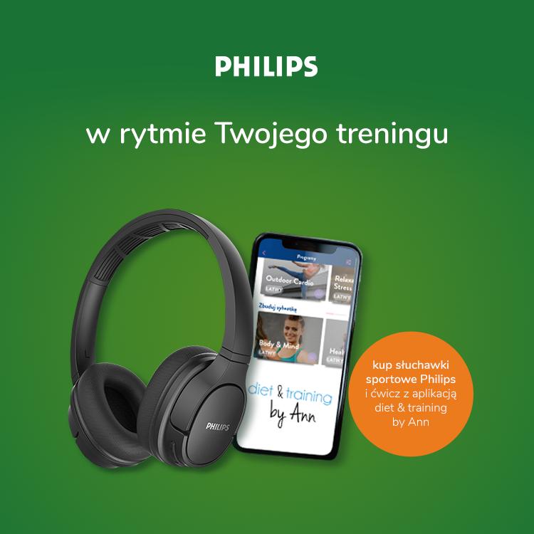 słuchawki sportowe Philips voucher diet&tranning by Ann