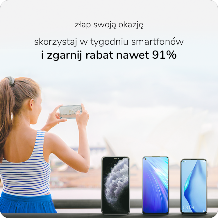 tydzień smartfonów w x-komie, ceny niższe nawet o 91%