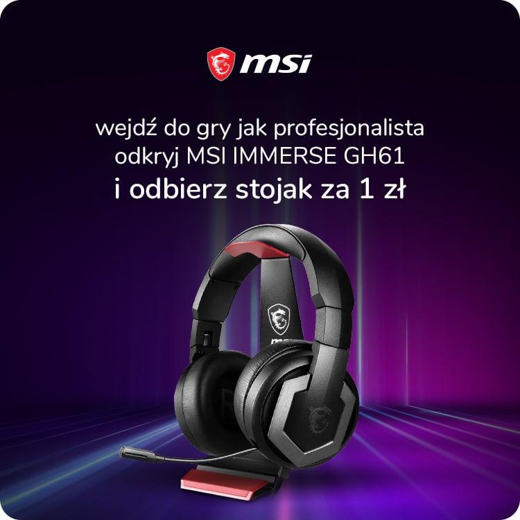 Promocja słuchawki MSI Immerse GH61