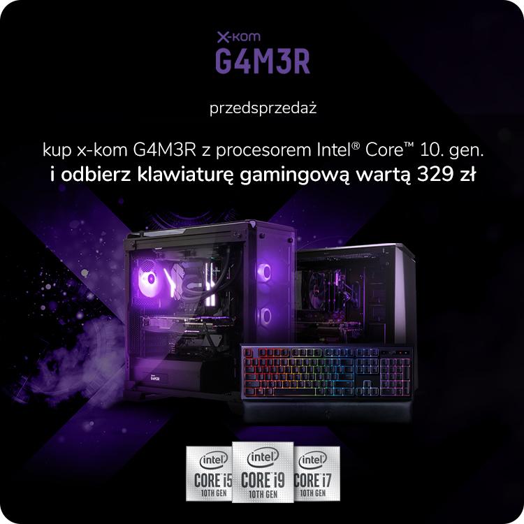 x-kom G4M3R z Intel Core 10. generacji z klawiaturą Razem Ornata Chroma w prezencie