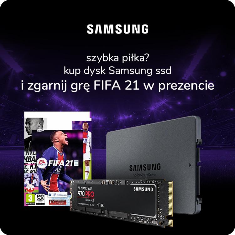 dyski SSD Samsung + Fifa 2021 w x-kom
