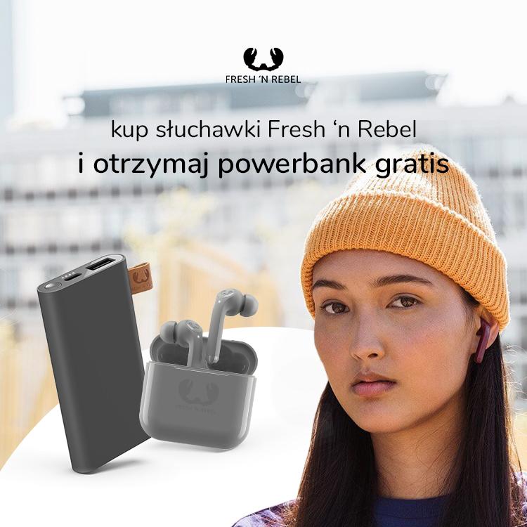słuchawki fresh 'n rebel twins oraz twins tip plus powerbank