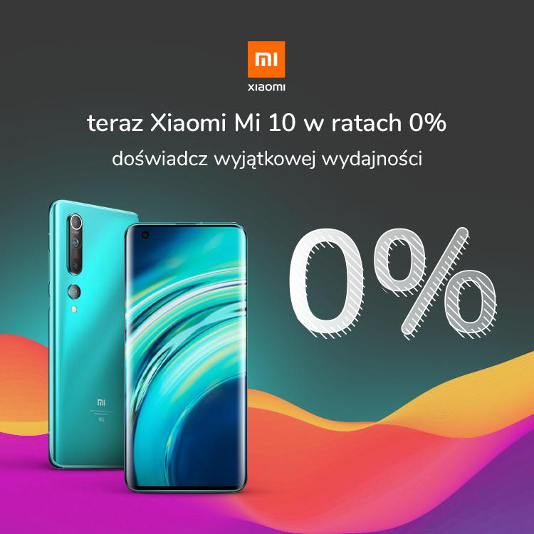 Xiaomi Mi 10 w ratach 0% w x-kom