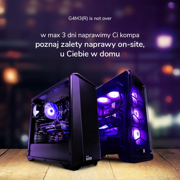 usługa on-site komputery x-kom G4M3R