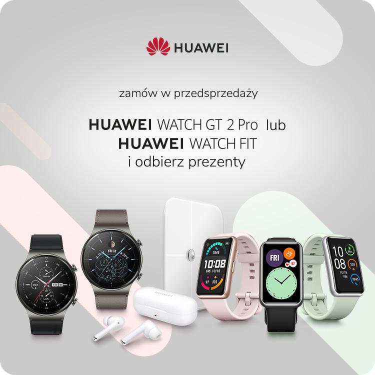 Premiera zegarków Huawei Watch GT 2 i Watch Fit