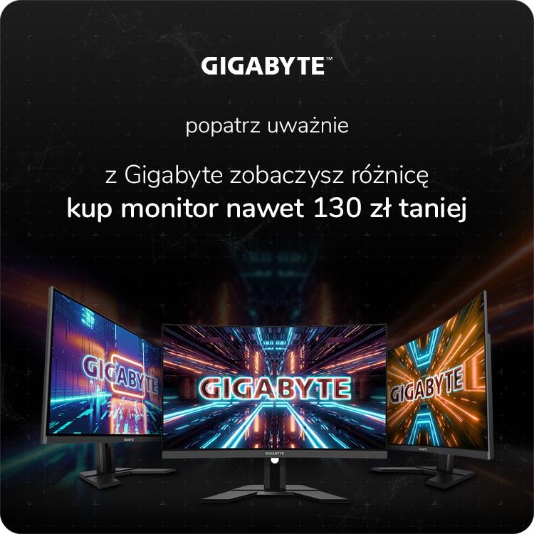promocja monitory gamingowe Gigabyte