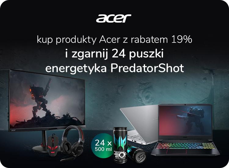 Produkty Acer z napojem PredatorShot