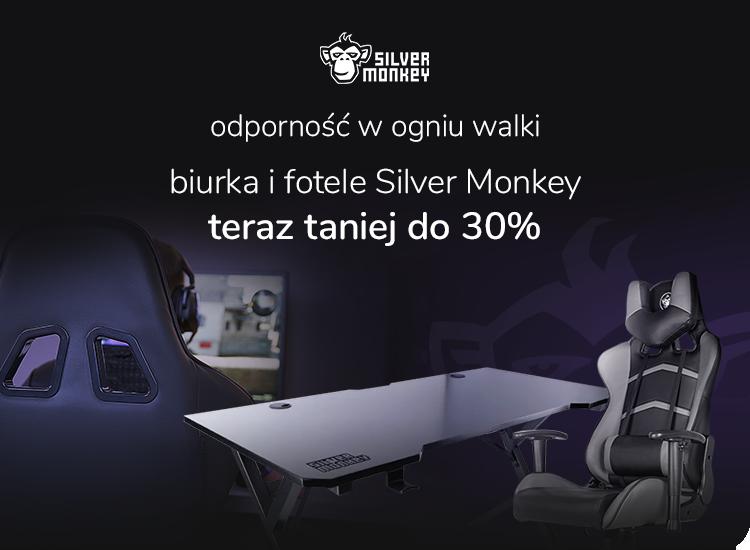 promocja biurka i fotele Silver Monkey do 30% taniej