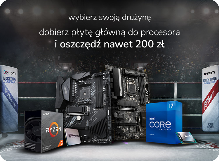 synergia komponentów procesor z płytą główną