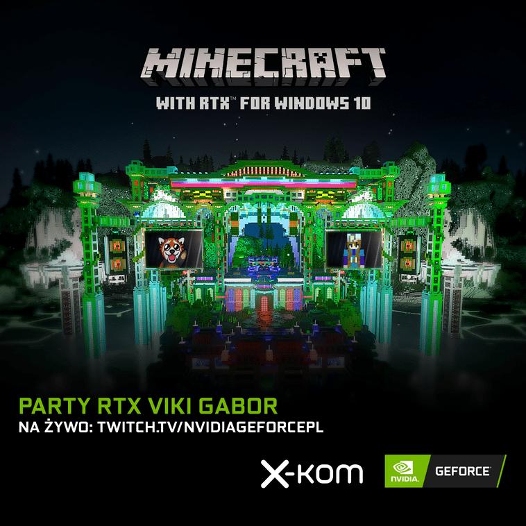Koncert Viki Gabor w Minecrafcie RTX