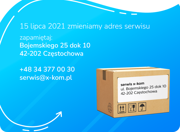 Zmiana adresu serwisu