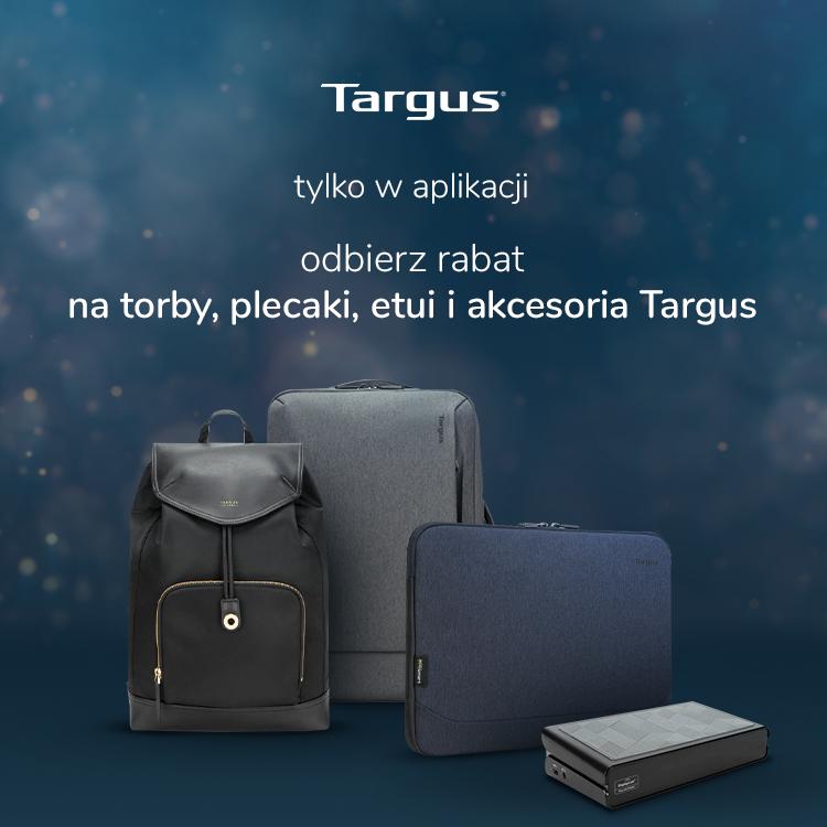 Targus w aplikacji w promocyjnych cenach