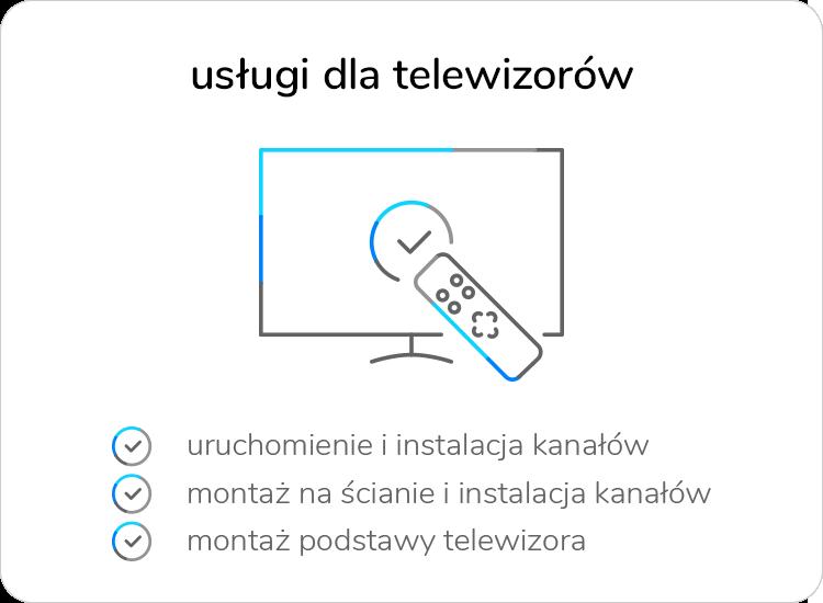 usługi wniesienia i instalacji TV x-kom