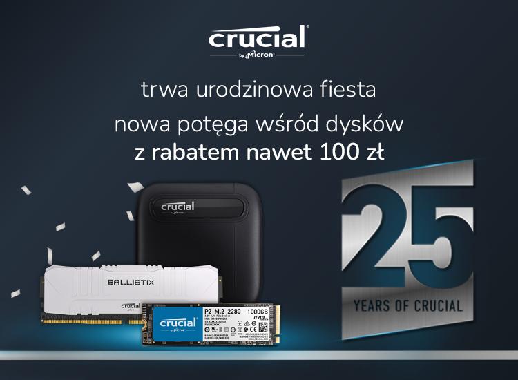 25 urodziny marki crucial - rabaty do 100 zł