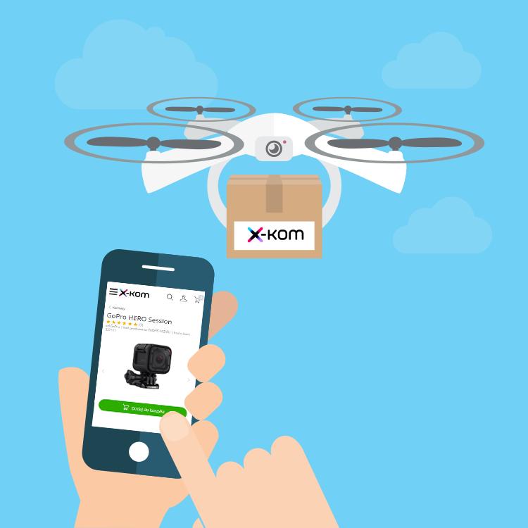 dostarczanie przesyłek za pomocą drona