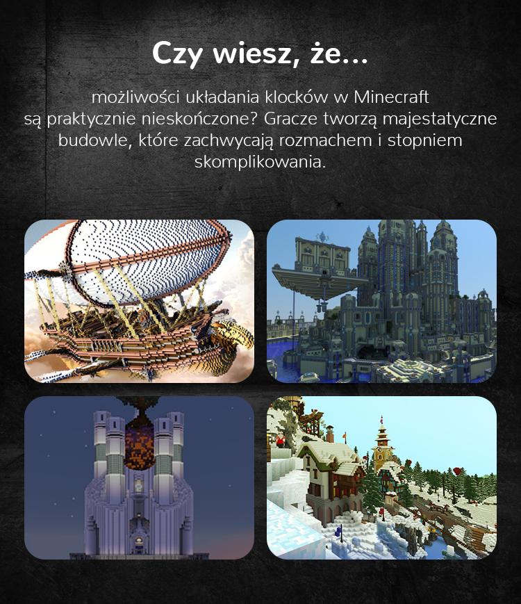 Minecraft możliwości tworzenia budowli