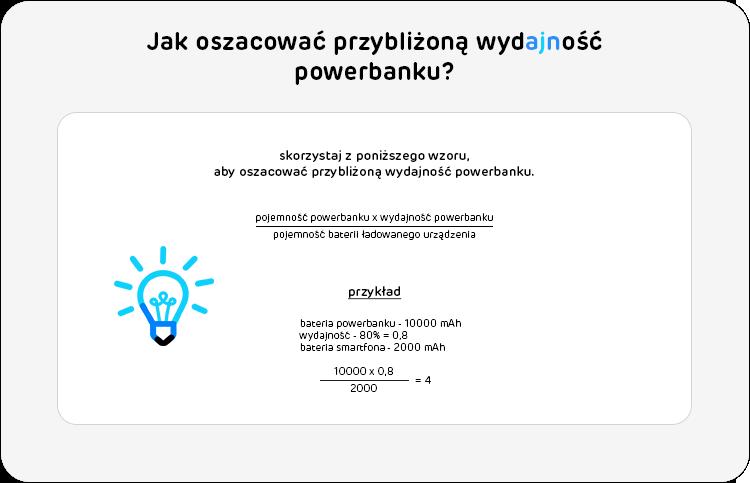 jak oszacować wydajność powerbanku