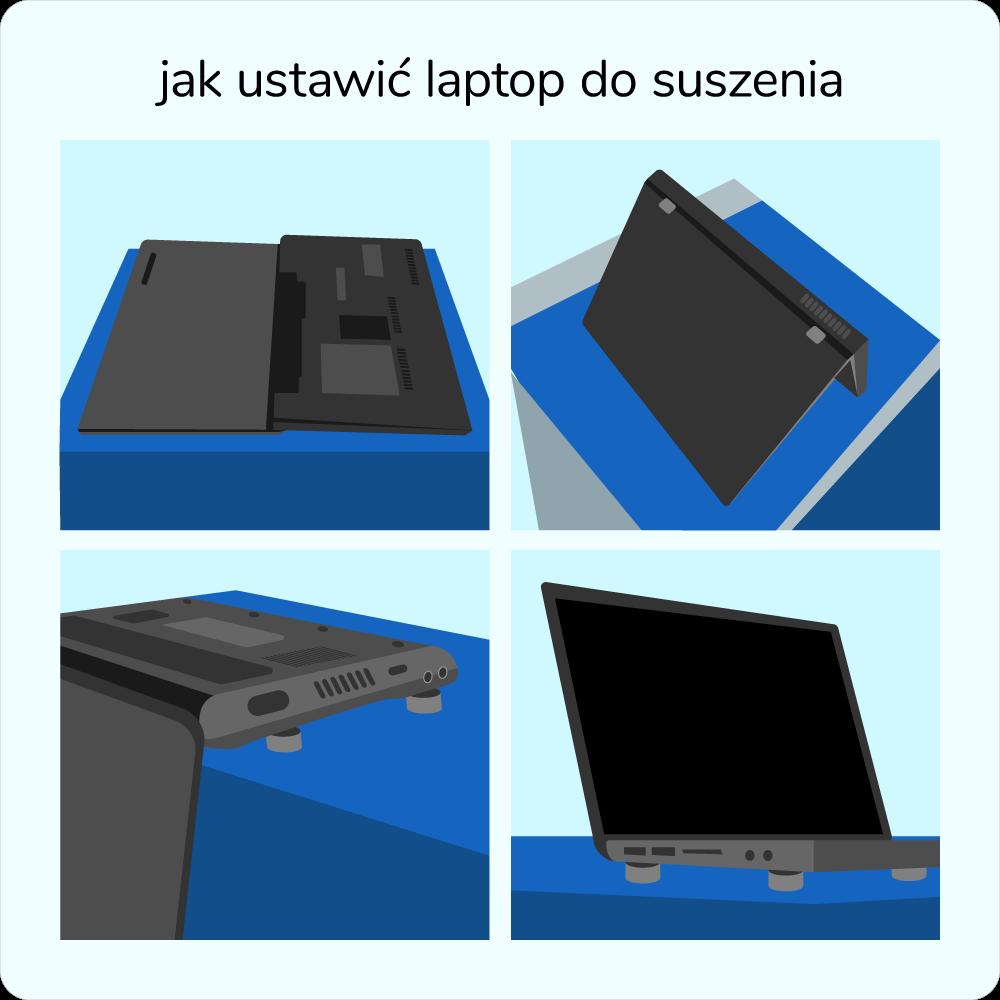 jak położyć zalanego laptopa